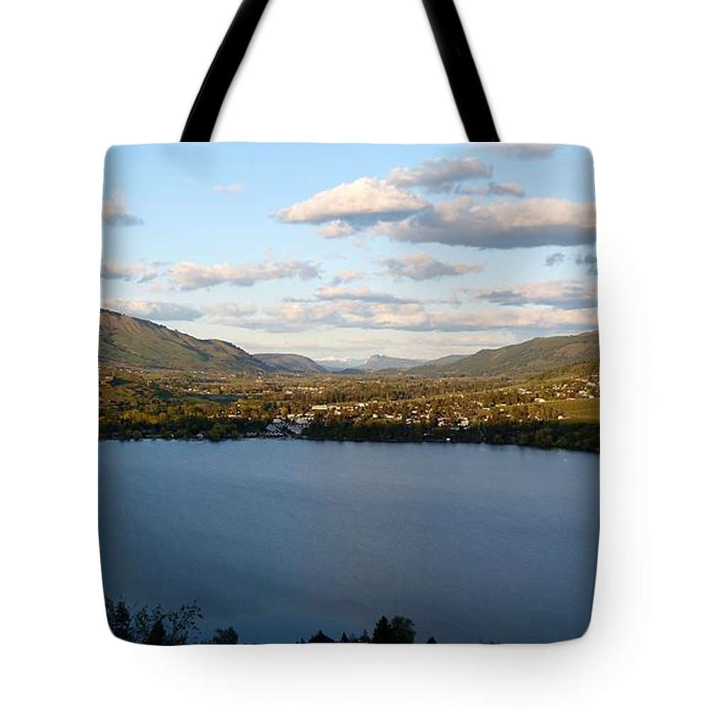 Coldstream Valley In Spring Tote Bag featuring the photograph Coldstream Valley In Spring by Will Borden