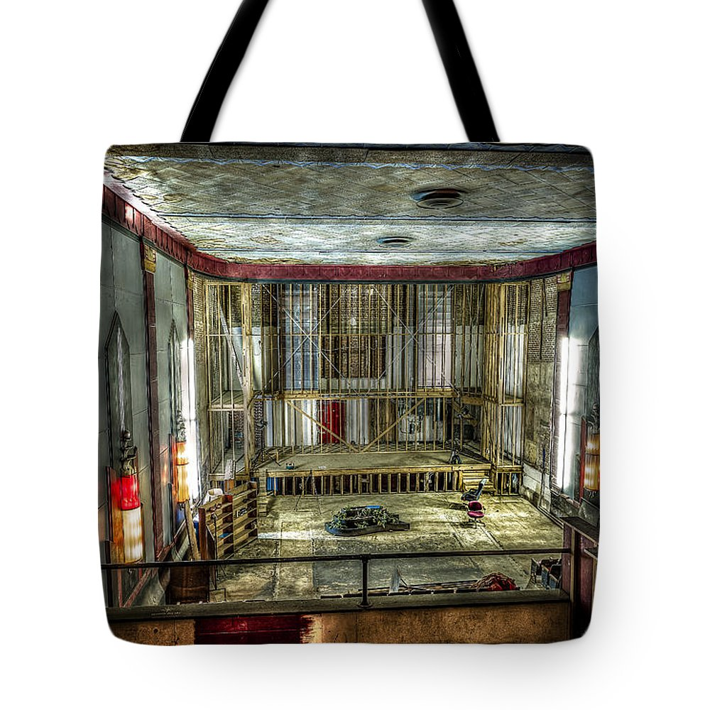 Cole Theater Tote Bag featuring the photograph Cole Theater by David Morefield