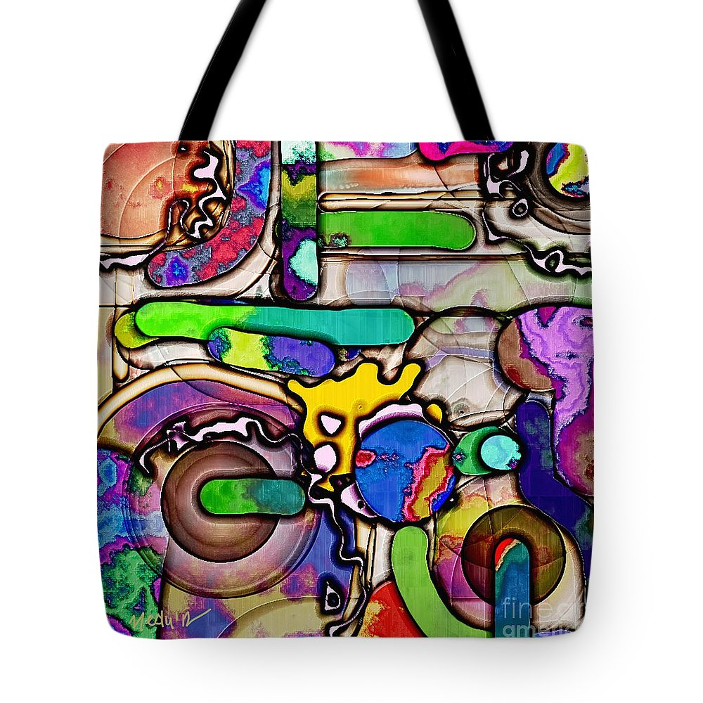 Paintings Tote Bag featuring the painting Collage 136 by Nedunseralathan R