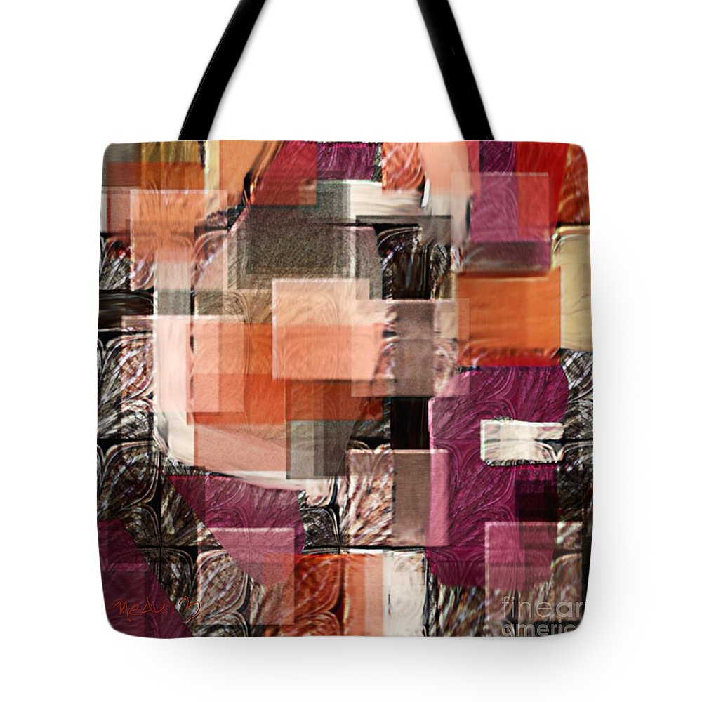 Fine Art Tote Bag featuring the painting Collage 147 by Nedunseralathan R