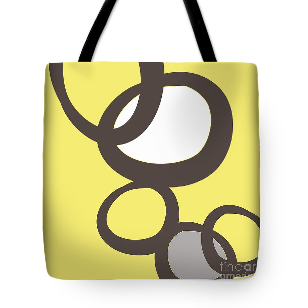 Abstract Tote Bag featuring the painting Collecting Stones by Linda Woods