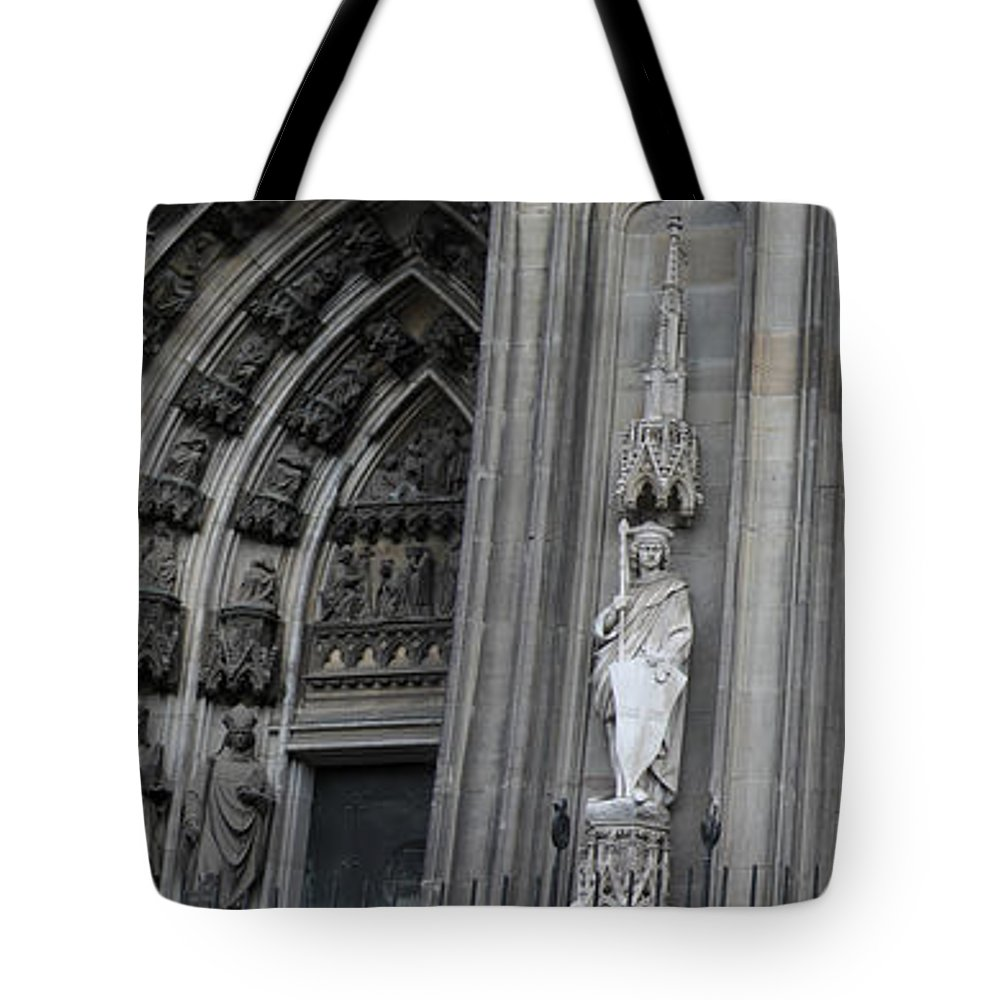 2014 Tote Bag featuring the photograph Cologne Cathedral South Side Detail 1 by Teresa Mucha