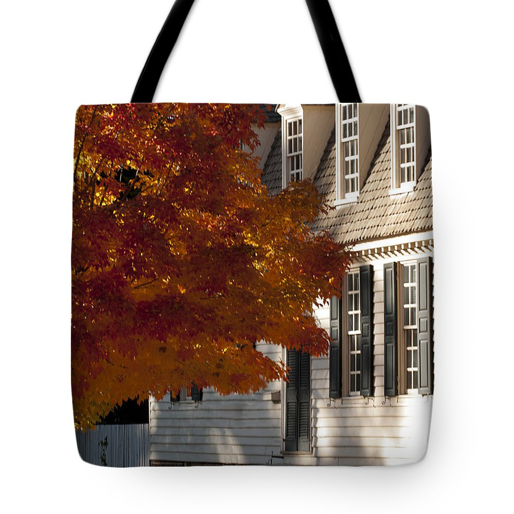 2013 Tote Bag featuring the photograph Colonial Color by Lauren Brice