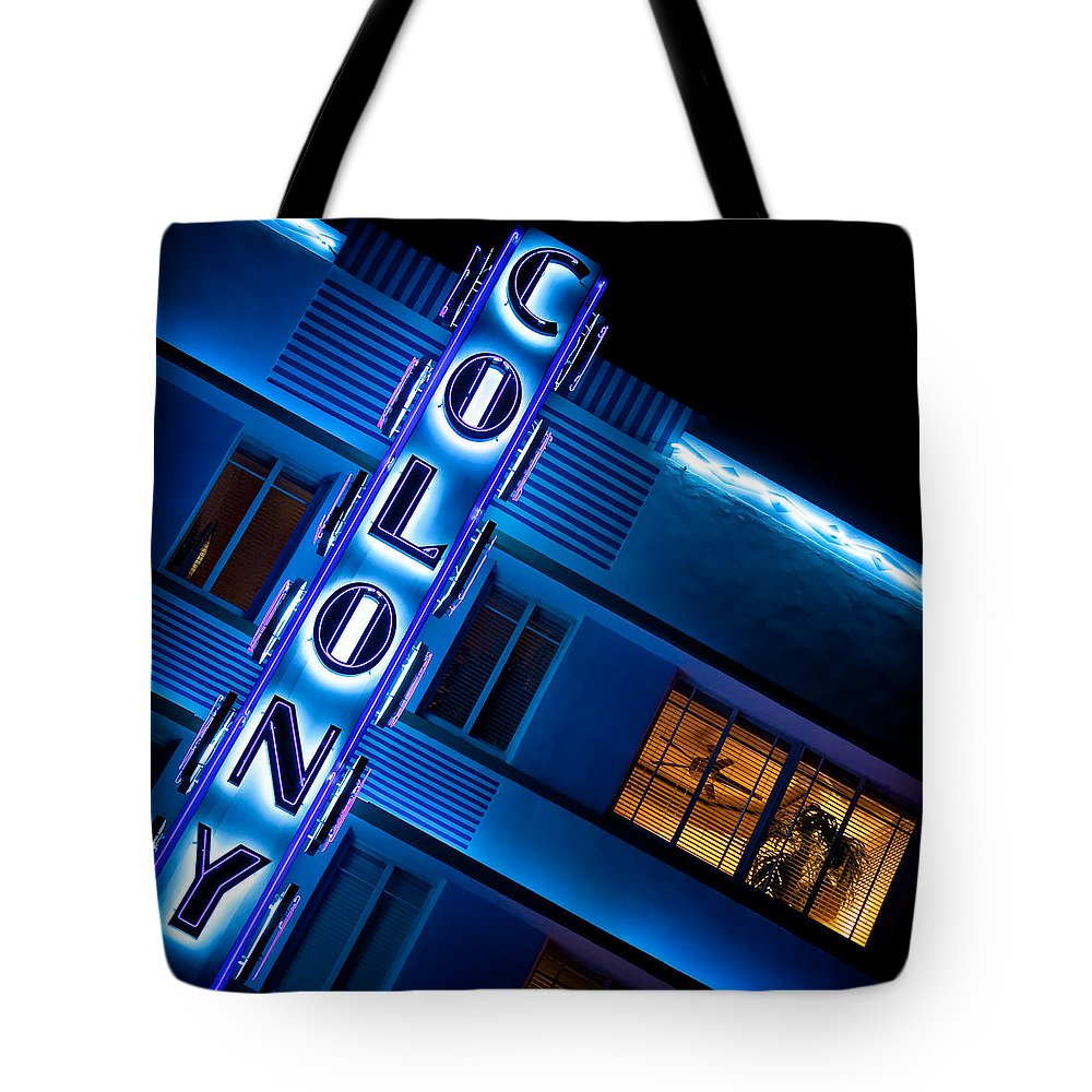 Colony Hotel Miami Tote Bag featuring the photograph Colony Hotel 1 by Dave Bowman