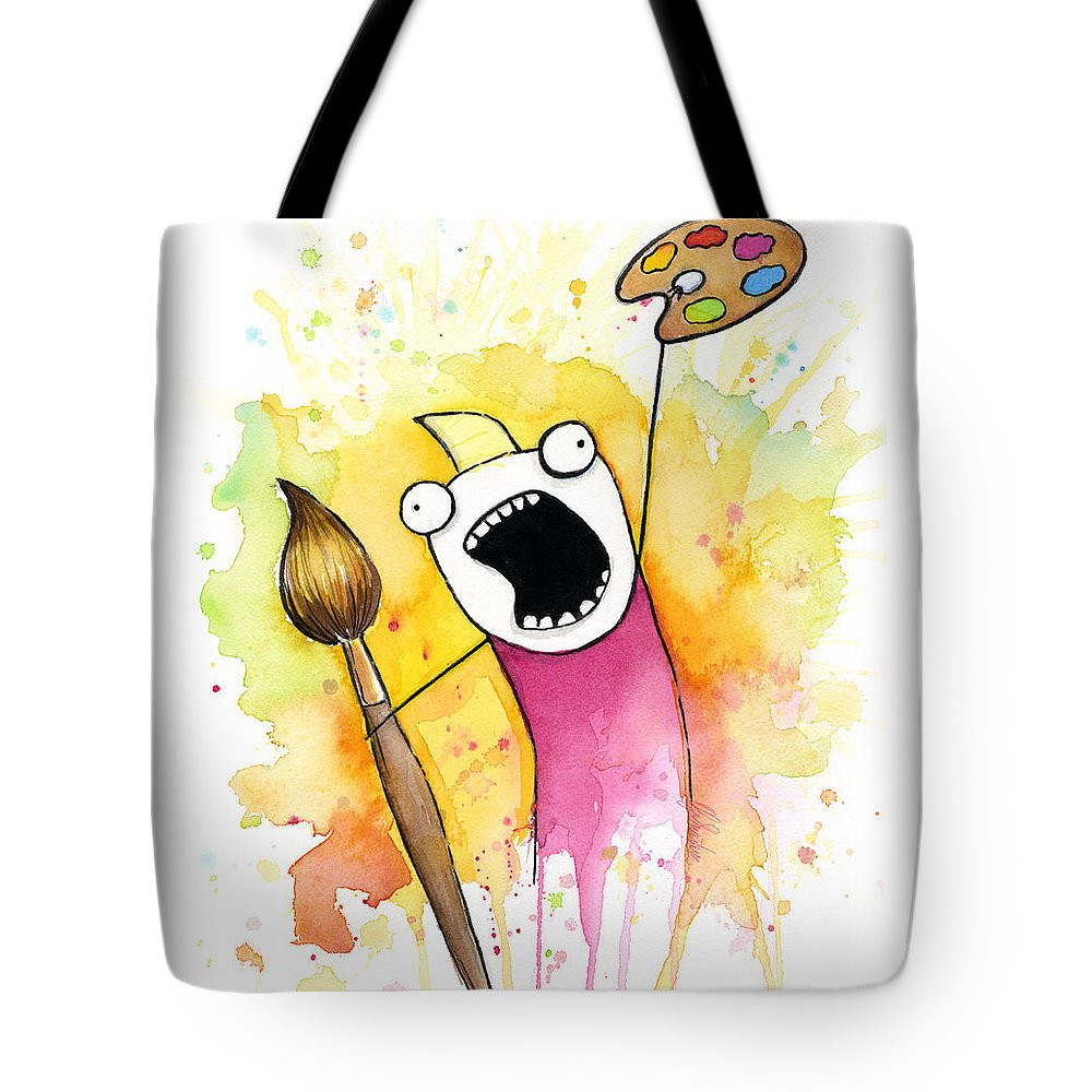 All The Things Tote Bag featuring the painting Color ALL the Water by Olga Shvartsur