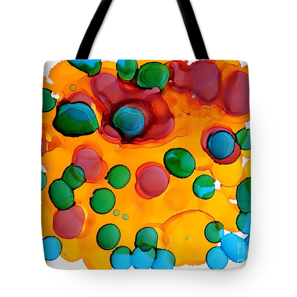 Alcohol Ink Tote Bag featuring the painting Color Bubbles by Vicki Housel