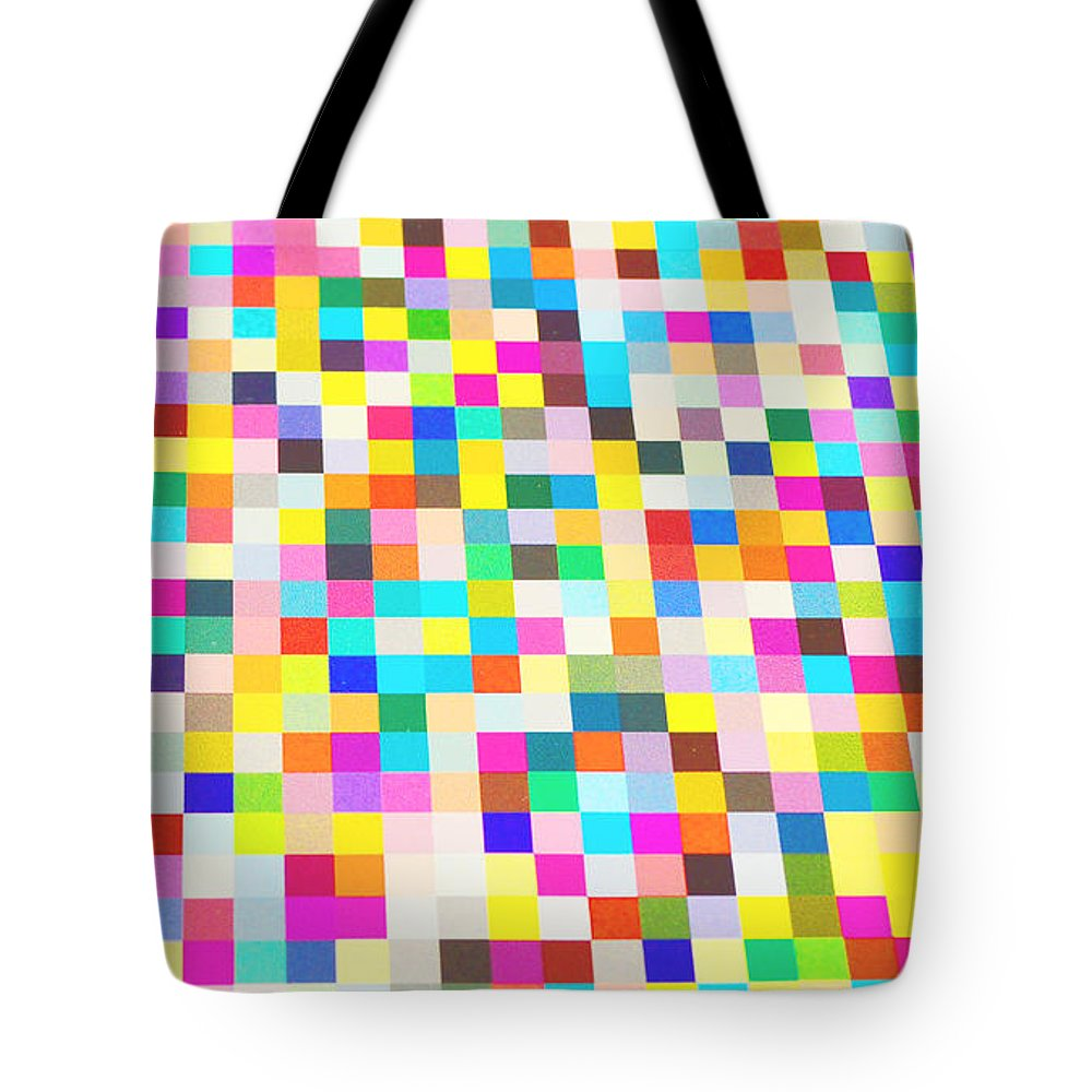 Waves Tote Bag featuring the digital art Color Quilt by Alys Caviness-Gober