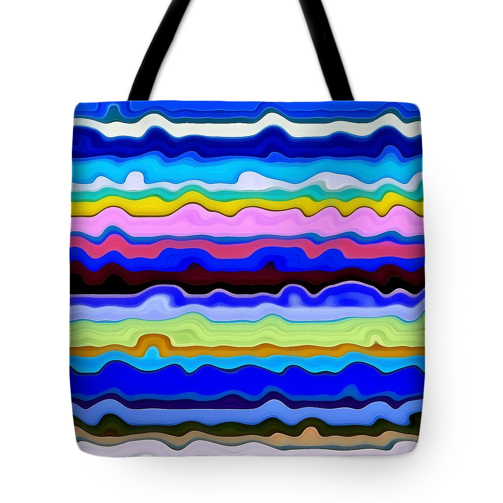 Textural Tote Bag featuring the painting Color Waves No. 4 by Michelle Calkins