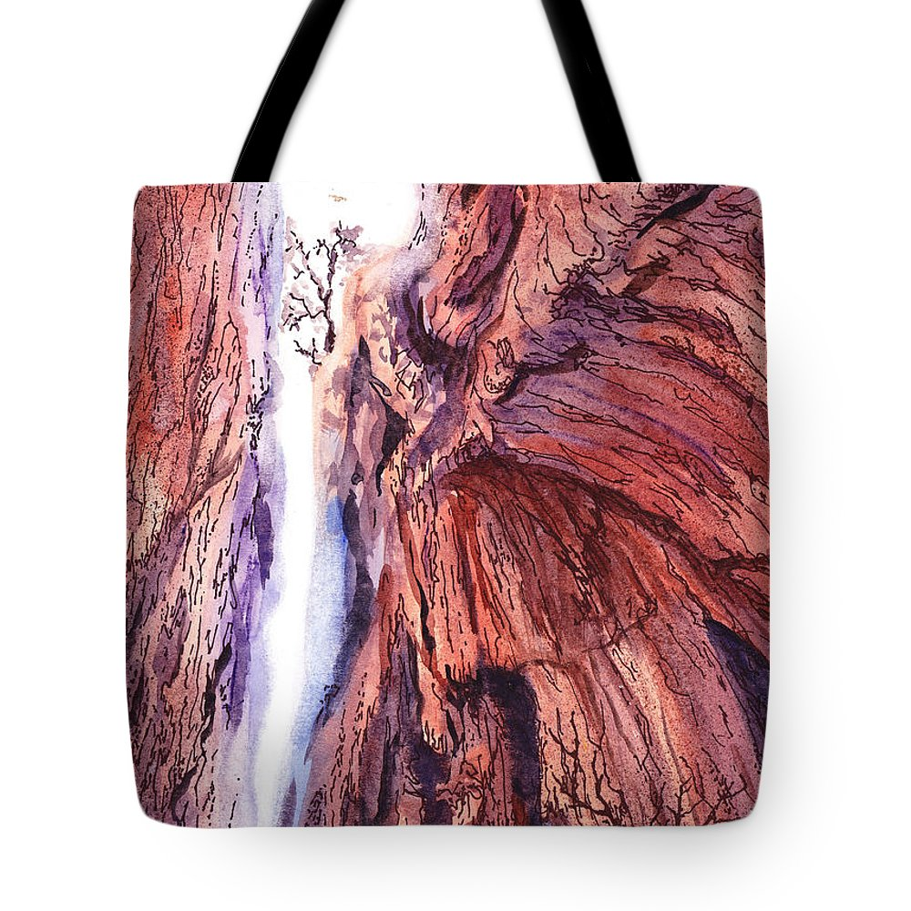 Colorado Tote Bag featuring the painting Colorado Mountains Garden Of The Gods Canyon by Irina Sztukowski