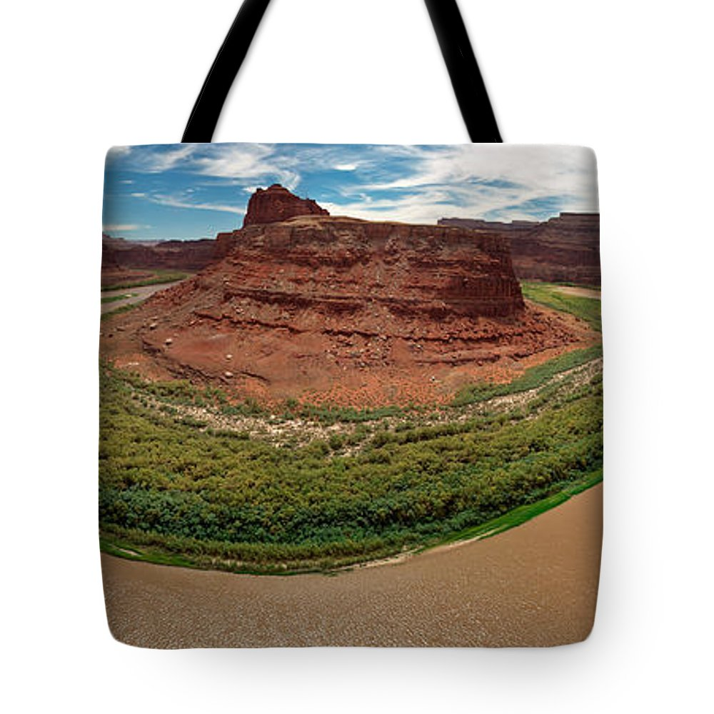 3scape Photos Tote Bag featuring the photograph Colorado River Gooseneck by Adam Romanowicz