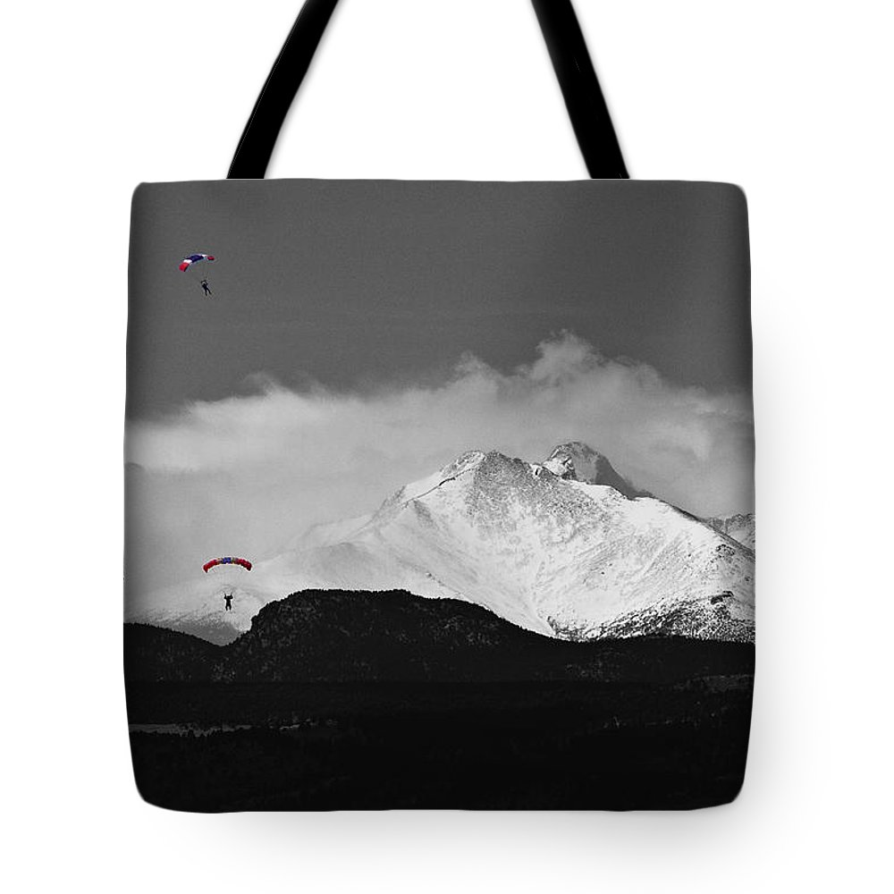 Boulder County Tote Bag featuring the photograph Colorado Rocky Mountain High by James BO Insogna
