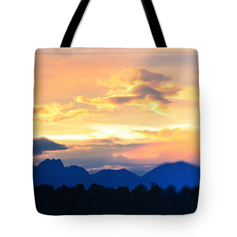 Sunset Tote Bag featuring the photograph Colorado Sunset by Gary Mosman