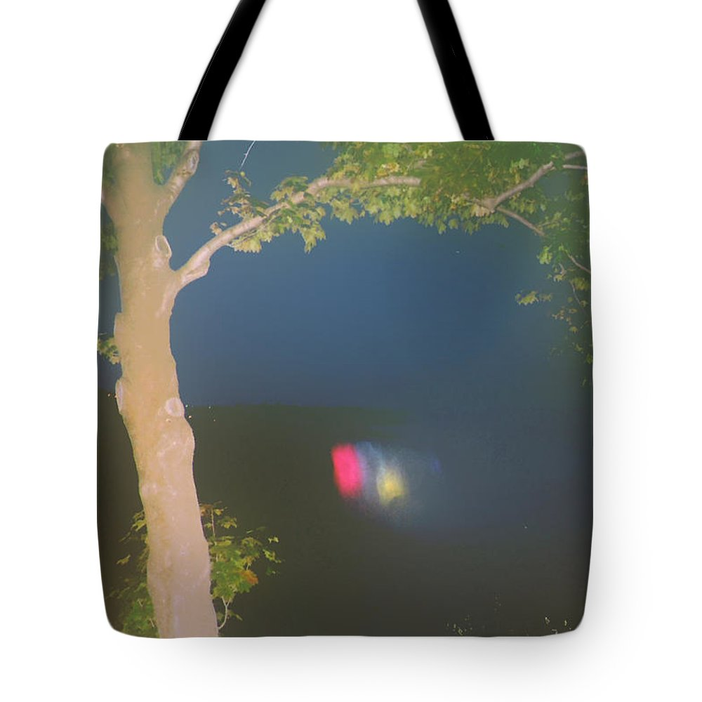 Waterfall Tote Bag featuring the photograph Colored Falls by Pharris Art