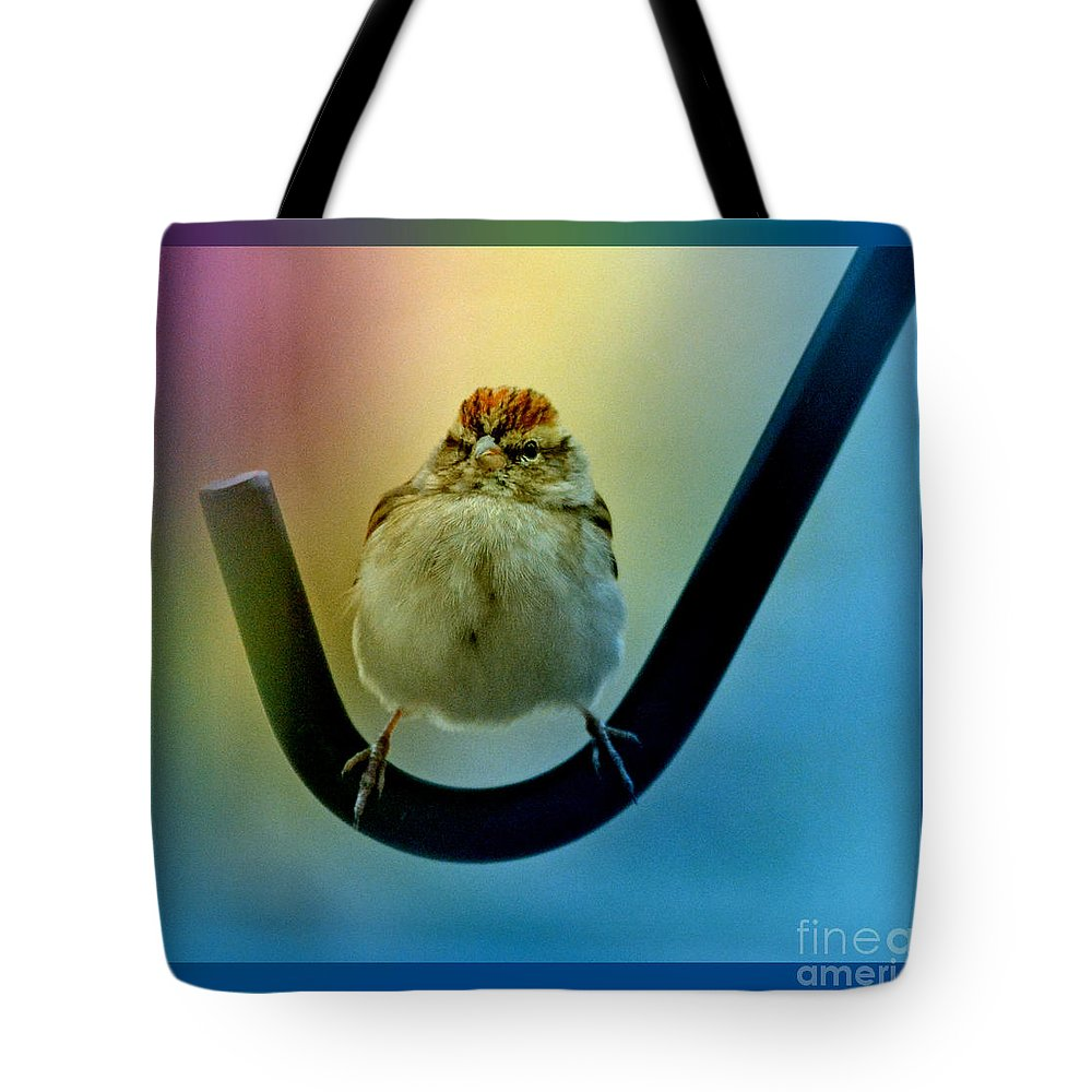 Colorful Tote Bag featuring the photograph Dang...i Hope This Thing Don't Start Shaking... by Barb Dalton