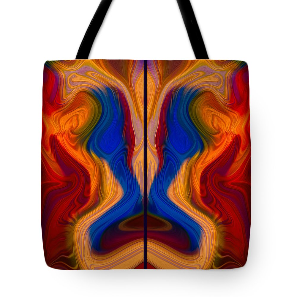 Georgia Okeefe Tote Bag featuring the painting Colorful Compromise by Omaste Witkowski