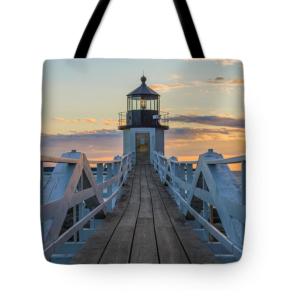 Maine Tote Bag featuring the photograph Colorful Ending by Kristopher Schoenleber