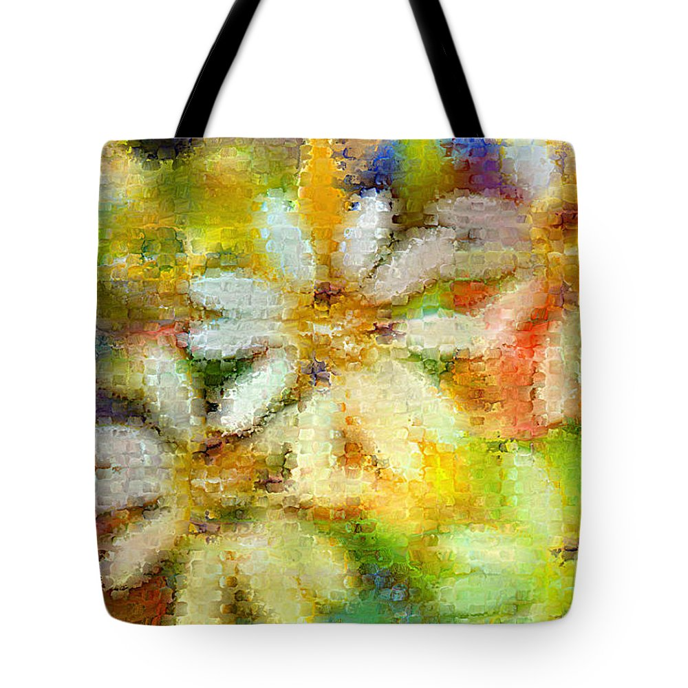 Nature Tote Bag featuring the photograph Colorful Floral Abstract II by Debbie Portwood