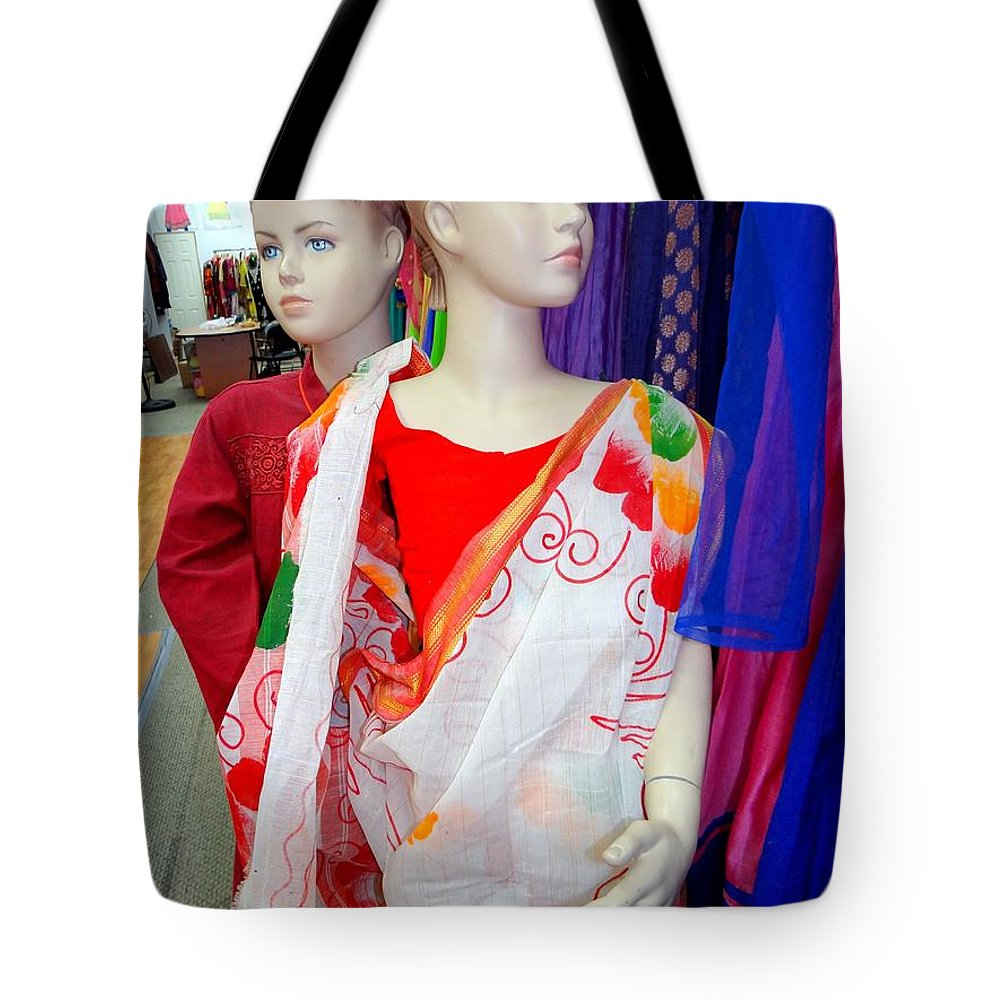 Mannequins Tote Bag featuring the photograph Colorful Kids by Ed Weidman