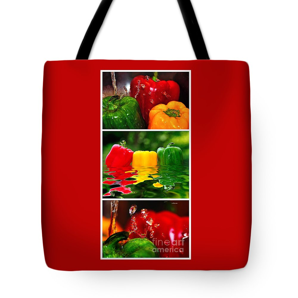 Photography Tote Bag featuring the photograph Colorful Kitchen Collage by Kaye Menner