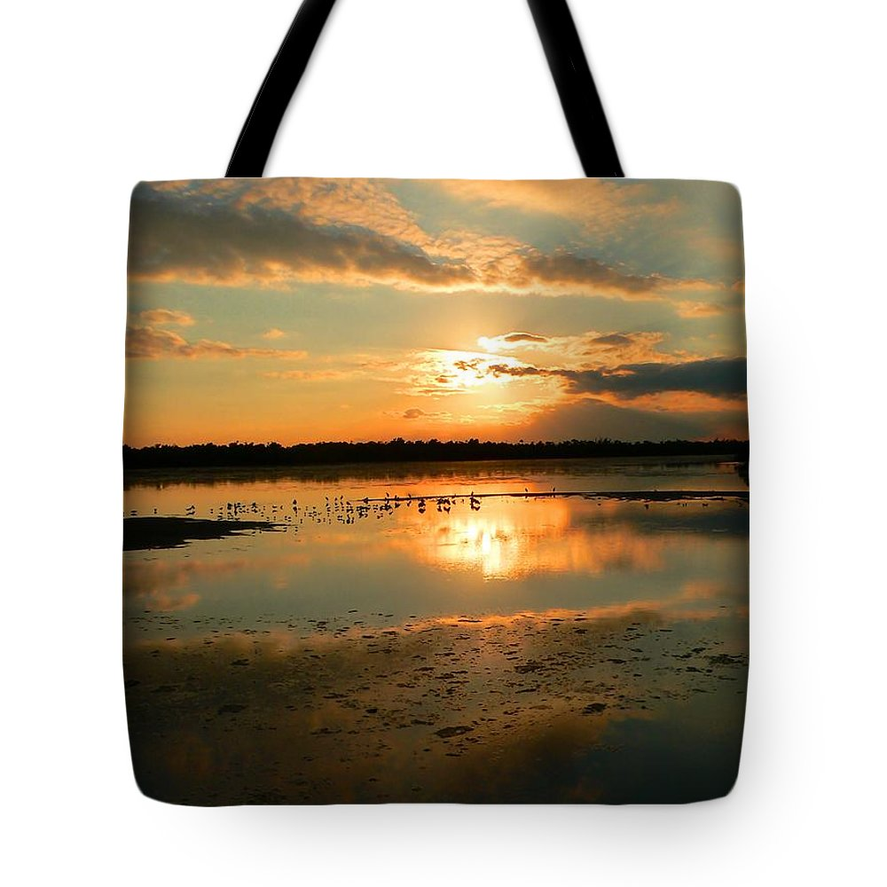 Sunset Tote Bag featuring the photograph Colorful Light by Rosalie Scanlon