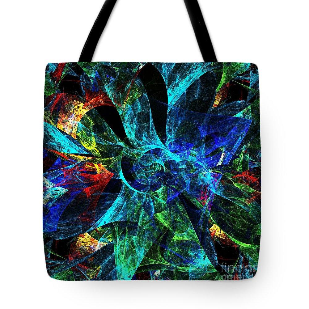 Petals Tote Bag featuring the digital art Colorful Petals by Klara Acel