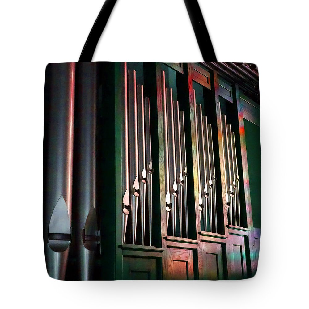 Color Tote Bag featuring the photograph Colorful Pipes by David T Wilkinson