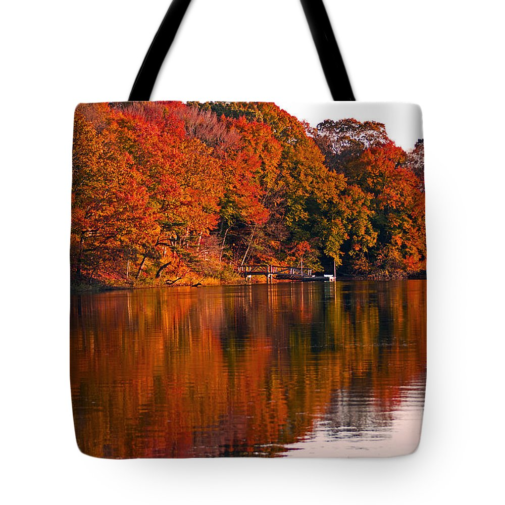 Autumn Tote Bag featuring the photograph Colorful Shores by Joe Geraci