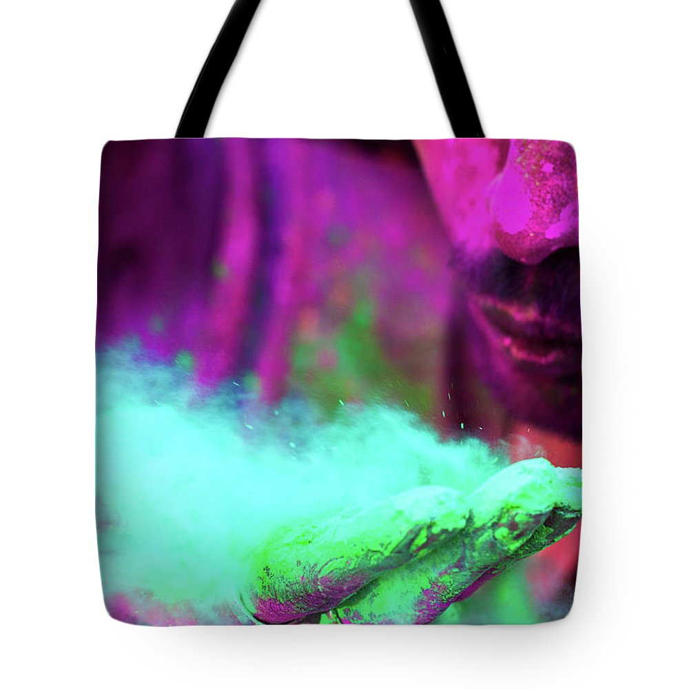 Hinduism Tote Bag featuring the photograph Colors Of Hope by Srivatsaa