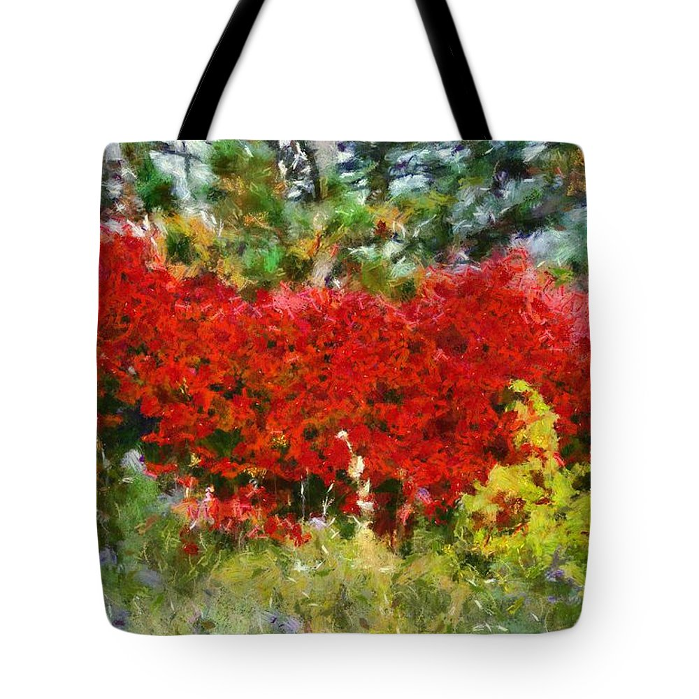 Colors Of Life Tote Bag featuring the painting Colors Of Life by Dan Sproul