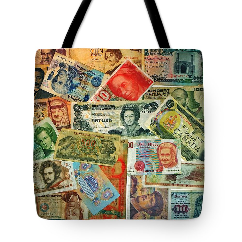 Money Tote Bag featuring the photograph Colors Of Money by Benjamin Yeager