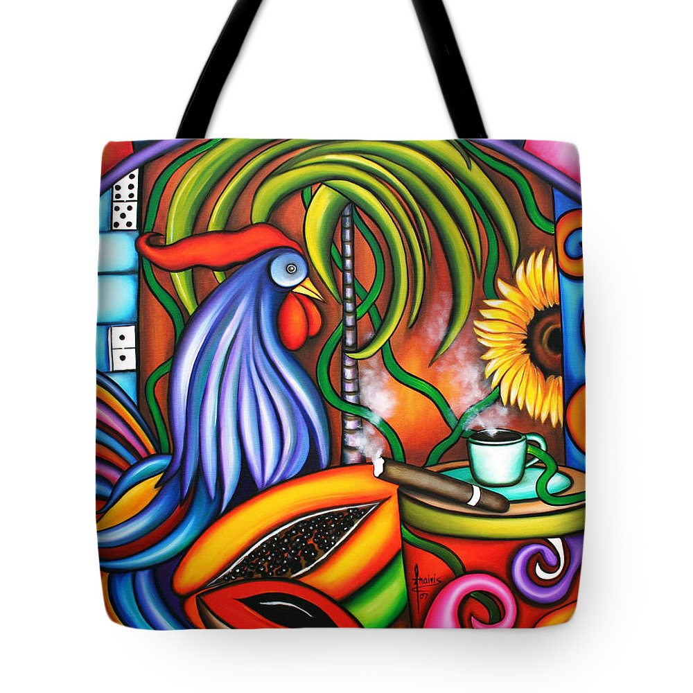Cuba Tote Bag featuring the painting Colors Of My World by Annie Maxwell