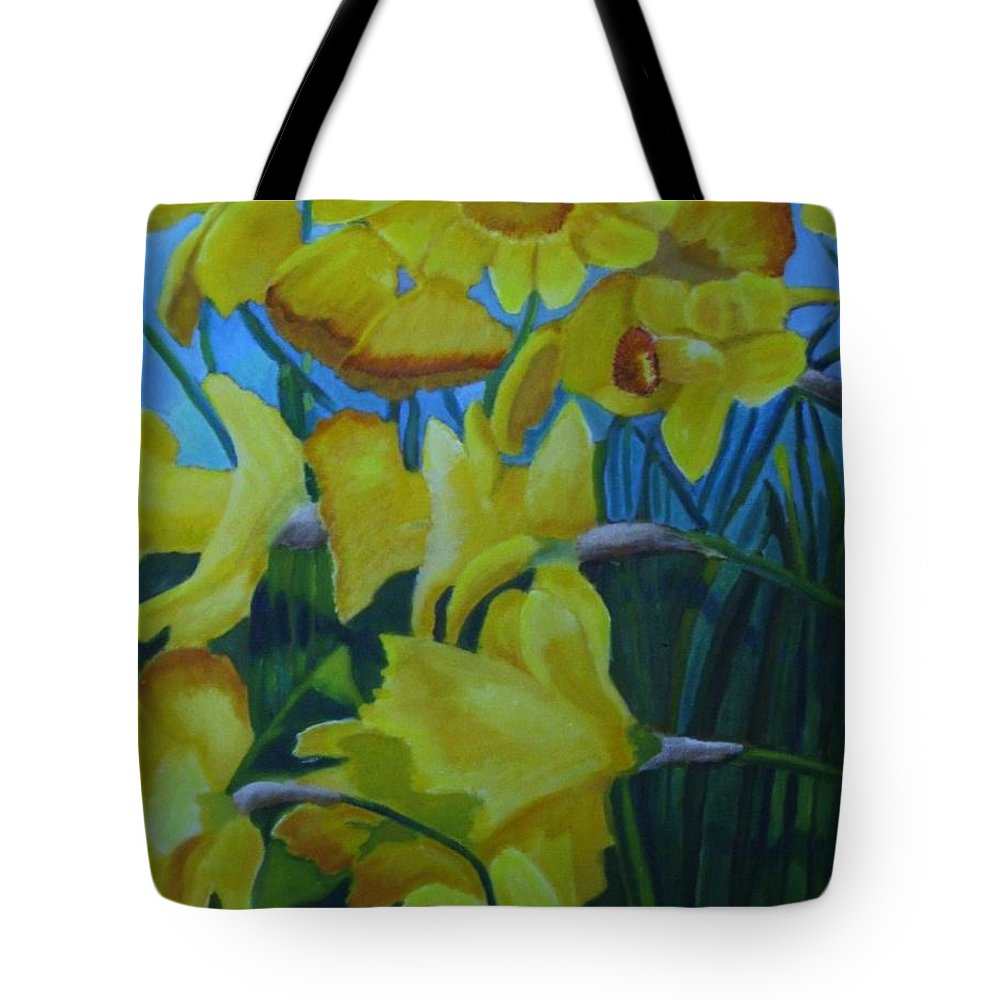 Spring Colors Tote Bag featuring the painting Colors Of Spring by Rebecca Jackson