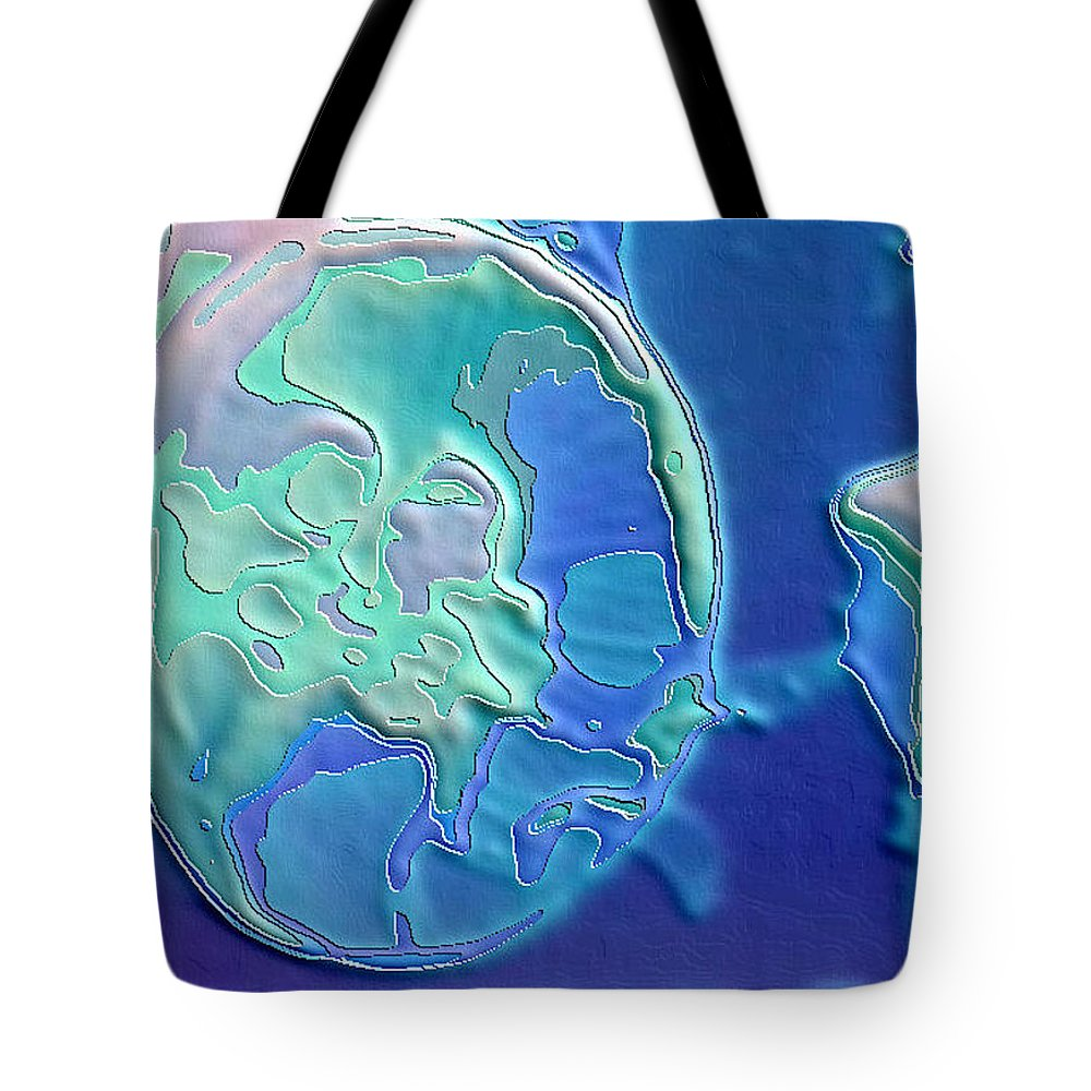 Abstract Tote Bag featuring the photograph Colors Of The Sea 2 by Nadalyn Larsen