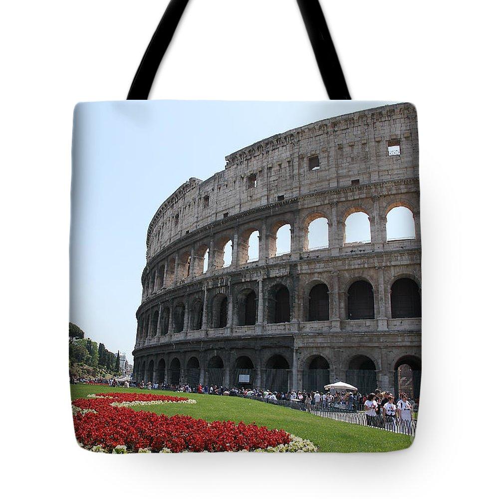 Colosseum Tote Bag featuring the photograph Colosseum by Milena Boeva