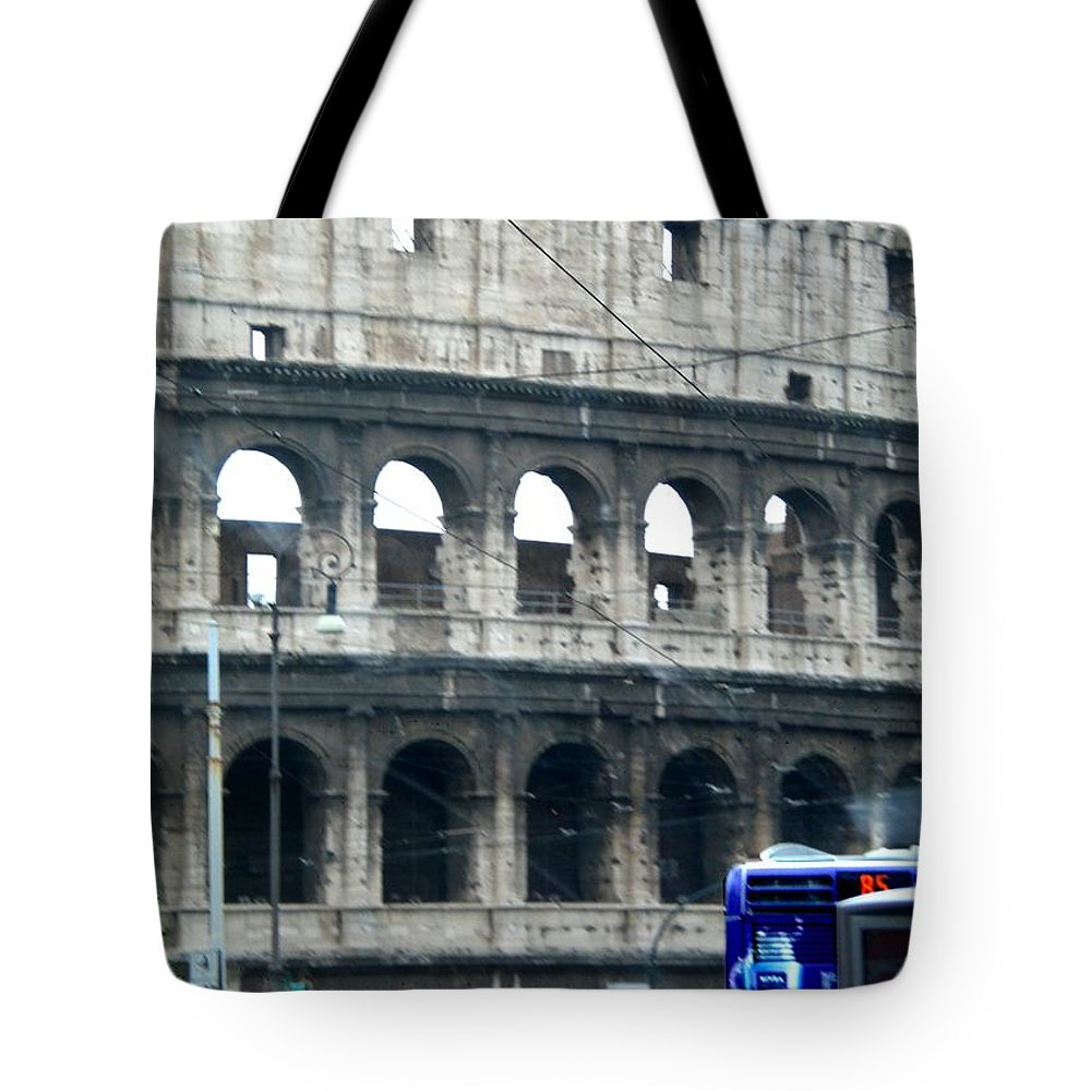 Colosseum Tote Bag featuring the photograph Colosseum Two by Marcello Cicchini