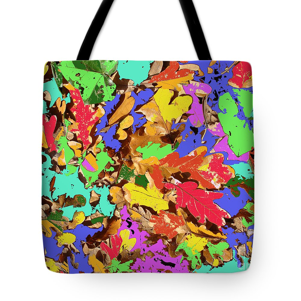 Autumn Tote Bag featuring the photograph Coloured Oak Leaves By M.l.d. Moerings 2009 by Marion Moerings