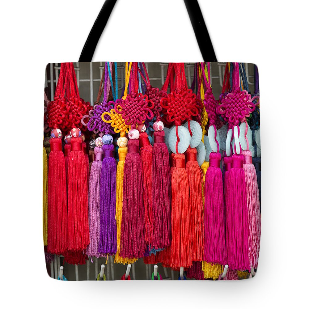 Art Tote Bag featuring the photograph Colourful Souvenirs In China by Jacek Malipan