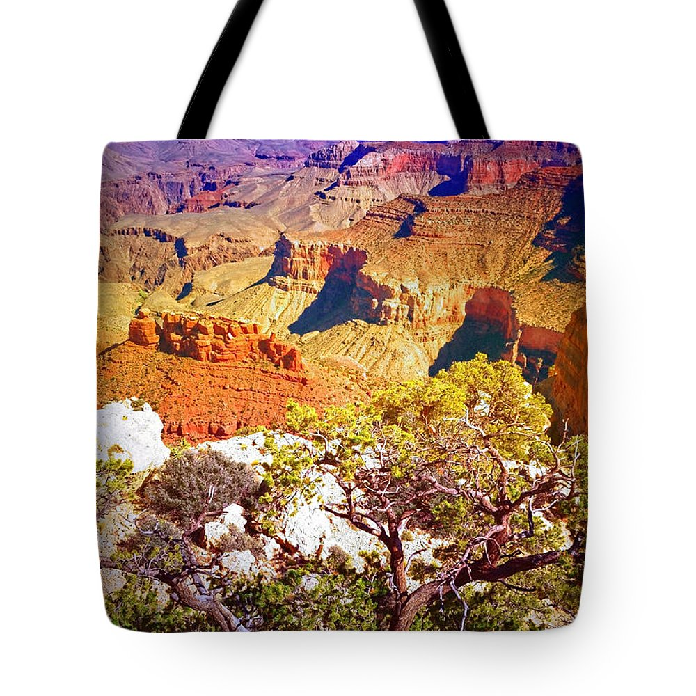 Layers Tote Bag featuring the photograph Colours Within The Canyon by Tara Turner