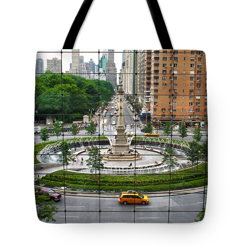 Nyc Tote Bag featuring the photograph Columbus Circle by Mitch Cat