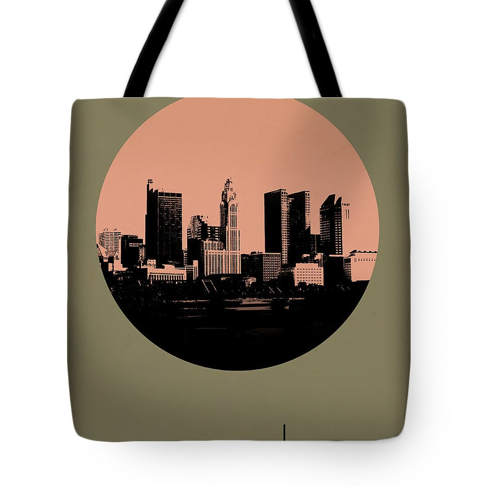 Tote Bag featuring the digital art Columbus Circle Poster 1 by Naxart Studio