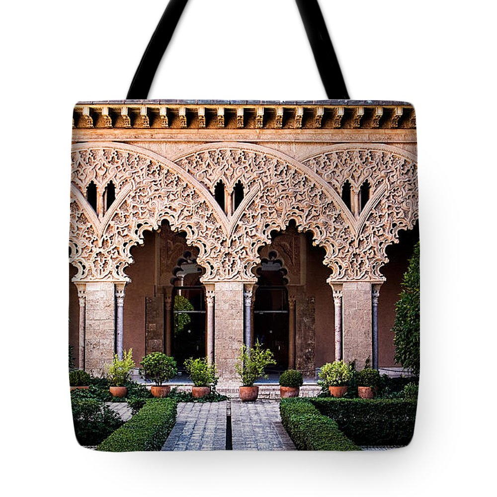 Column Tote Bag featuring the photograph Columns And Arches No4 by Weston Westmoreland