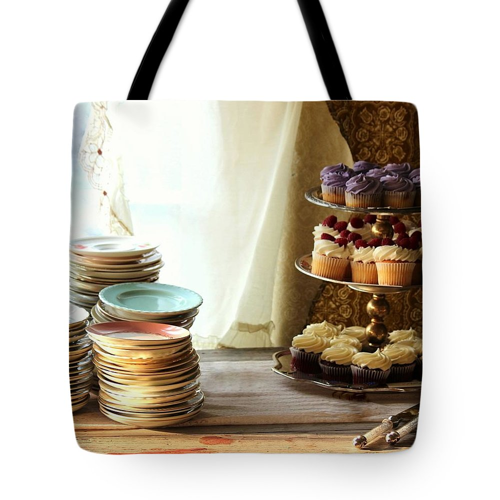 Cupcakes Tote Bag featuring the photograph Come For The Dessert by Rosanne Jordan