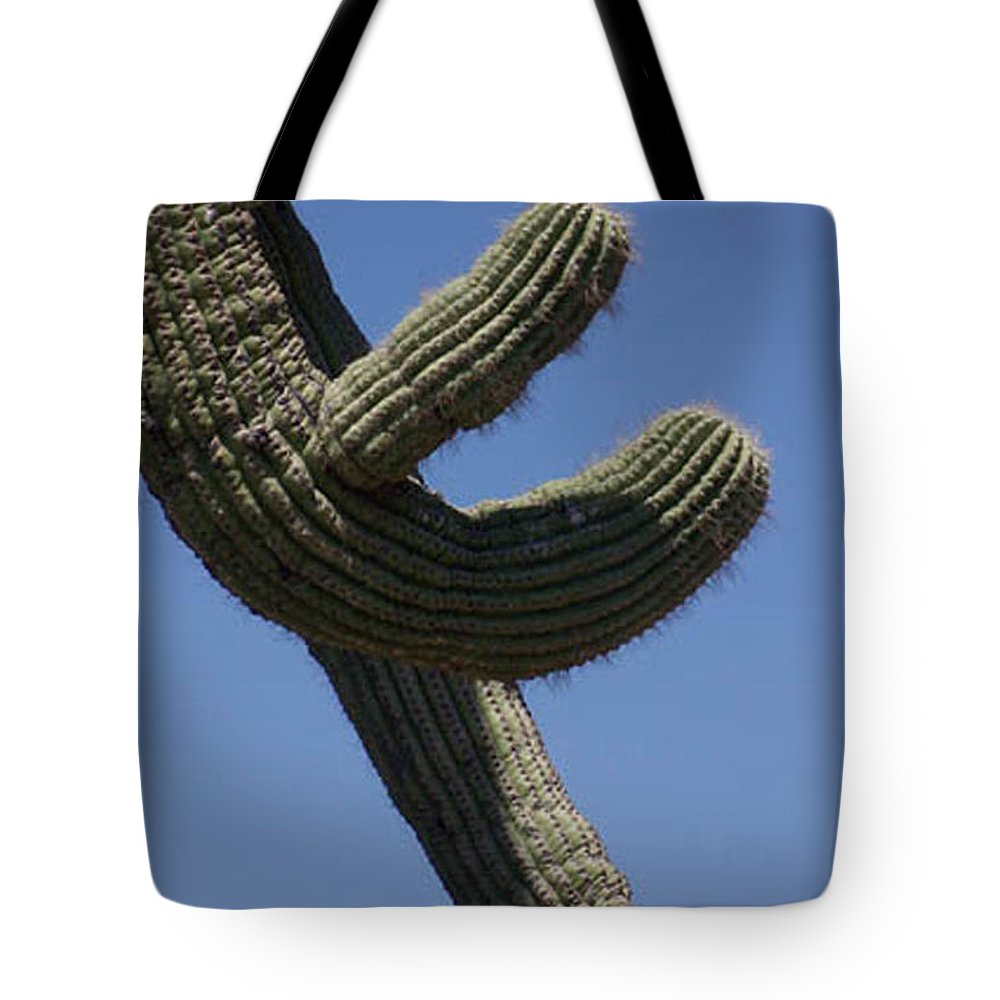Saguaro Tote Bag featuring the photograph Come Hither by Kathy McClure