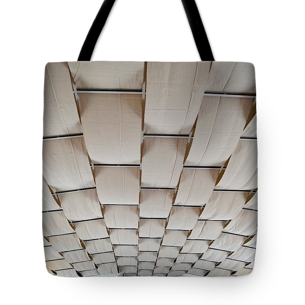 Industrial Tote Bag featuring the photograph Come Sail Away Ceiling by Alys Caviness-Gober