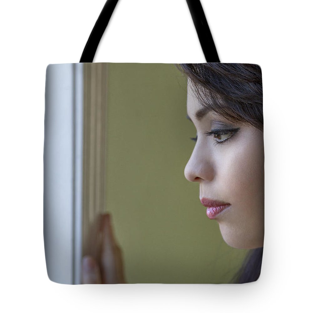 Girl Tote Bag featuring the photograph Come To My Window by Evelina Kremsdorf