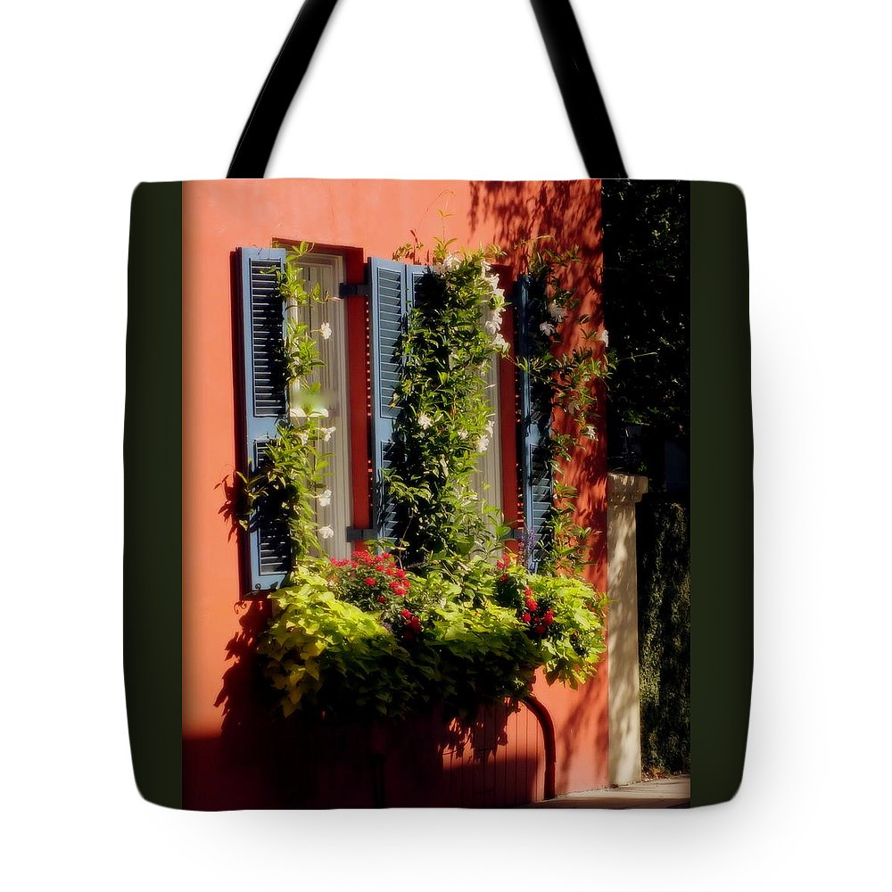 Charleston Tote Bag featuring the photograph Come To My Window by Karen Wiles