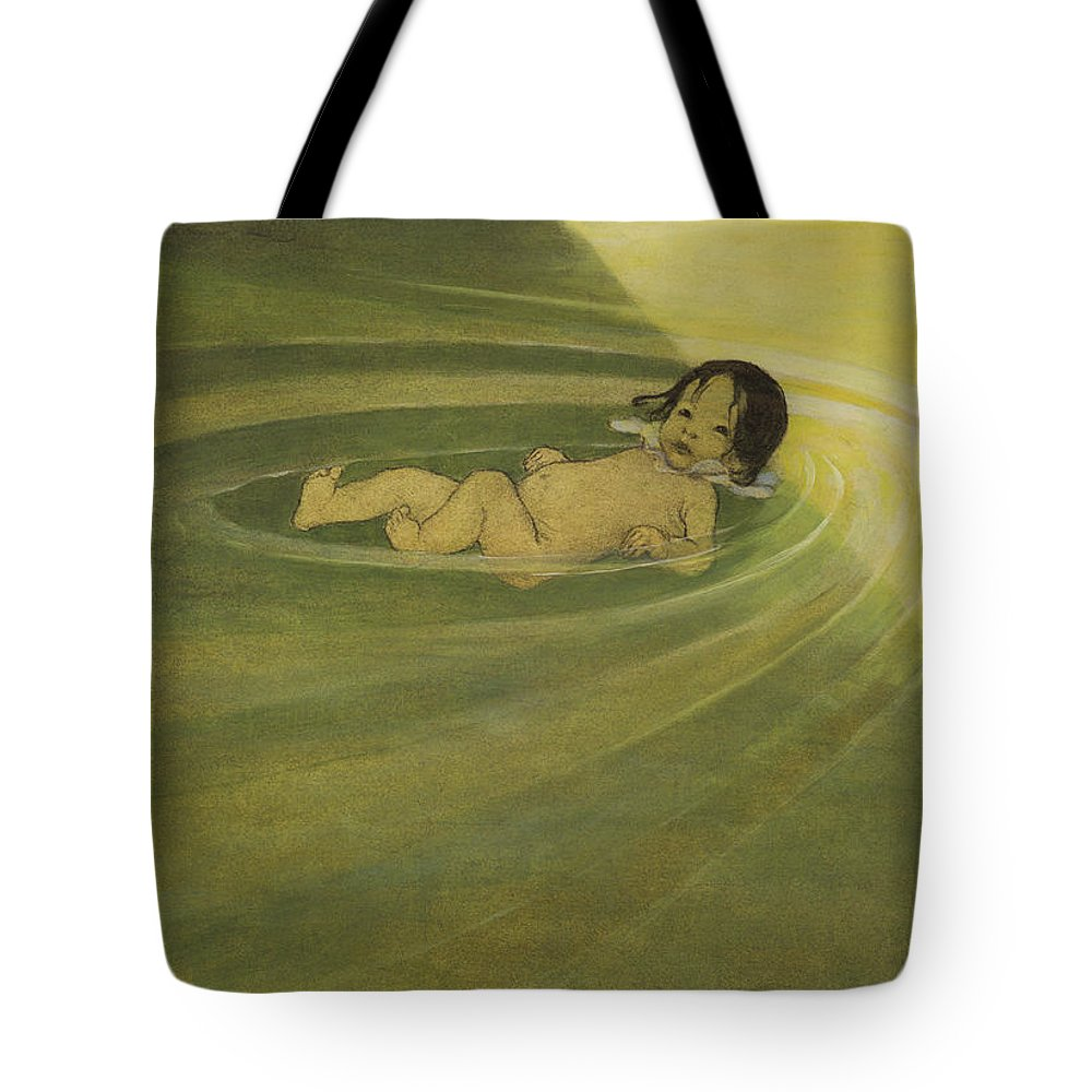 Charcoal Drawing Tote Bag featuring the painting Comfortable circa 1916 by Aged Pixel