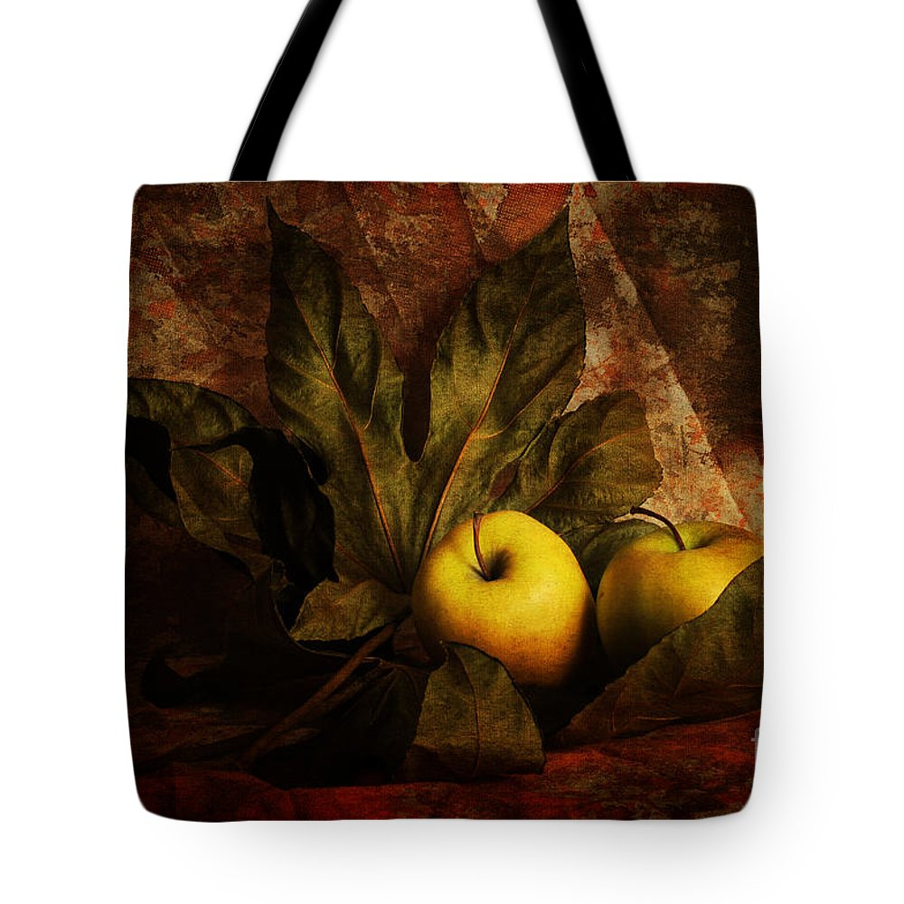 Apples Tote Bag featuring the photograph Comfy Apples by Randi Grace Nilsberg