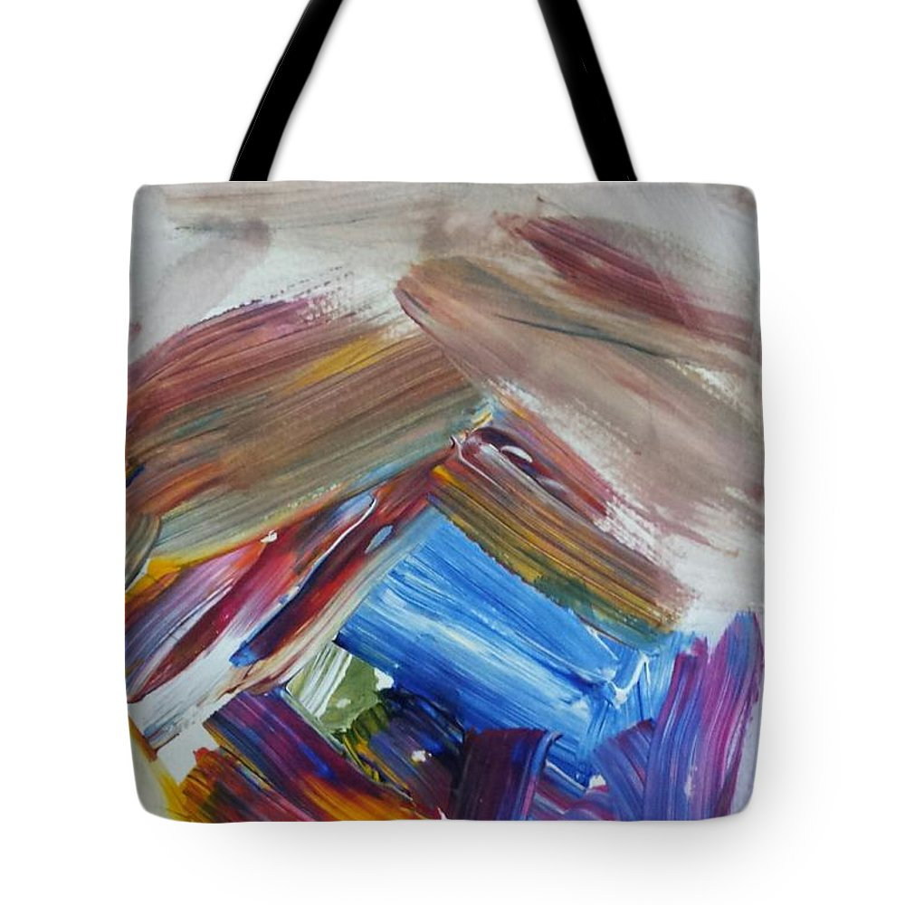 Abstract Tote Bag featuring the painting Coming Out by Sherry Harradence