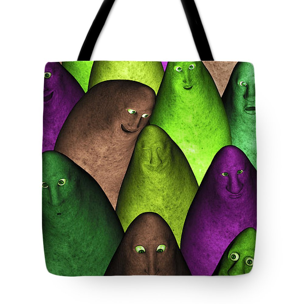 Community Tote Bag featuring the digital art Community 2 by Gabiw Art